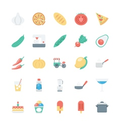 Food Colored Icons 5 vector image