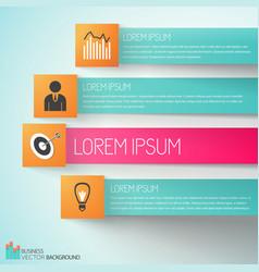 goal achievement business infographics vector image vector image