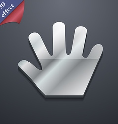 Hand icon symbol 3D style Trendy modern design vector image
