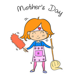 happy mother day cartoon collection vector image vector image