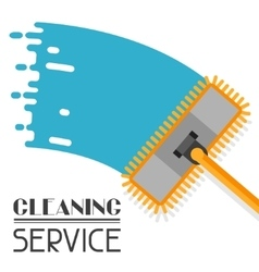 Housekeeping background with mop Image can be vector image