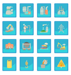 Industrial symbols icon blue app vector