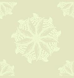 Mandala flower lemon for adults seamless vector