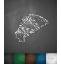 Nefertiti icon vector