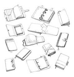 notebook notepad planner organizer sketchbook vector image vector image