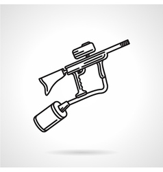Paintball marker black line icon vector