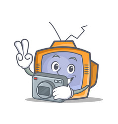 photography tv character cartoon object vector image