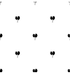 Seamless pattern Black balloons vector image vector image