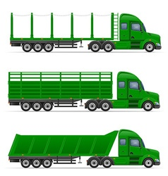 Semi truck trailer 14 vector
