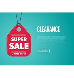 Super sale banner with offer sticker vector