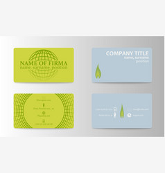 unique business card vector image vector image