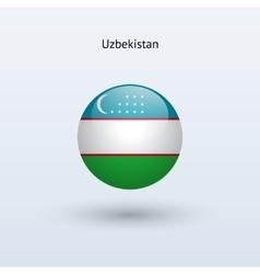 Uzbekistan round flag vector image vector image