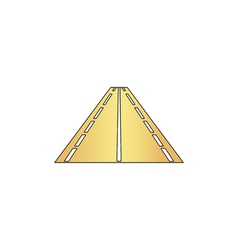 Road computer symbol vector image