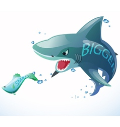 Fish bigger eat vector