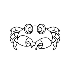 Sea crab animal vector image