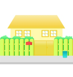 Orange house cartoon vector