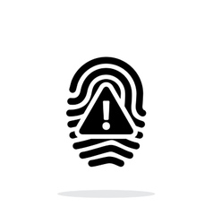 Fingerprint scan error icon on white background vector