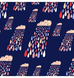 Cute seamless pattern with colorful rainy vector