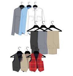 Mens clothing vector