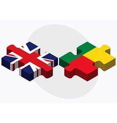 United kingdom and benin flags vector