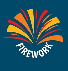 logo abstract multicolored fireworks vector image