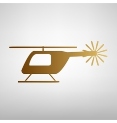 Helicopter sign flat style icon vector