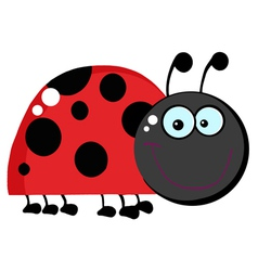 Happy ladybug grinning vector