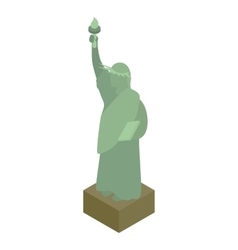 Statue of liberty icon isometric 3d style vector