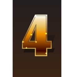 Golden numbers set vector