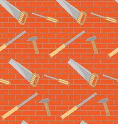 Carpentry tools pattern design vector