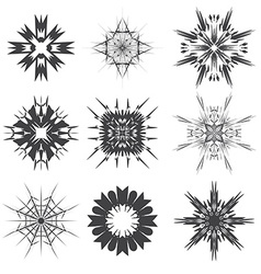 abstract black and white signs vector image vector image