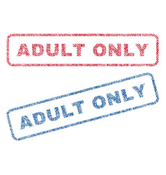 Adult only textile stamps vector