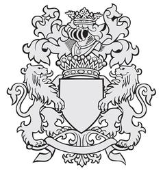 aristocratic emblem No25 vector image vector image
