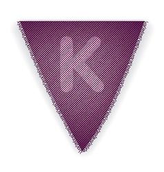 Bunting flag letter k vector