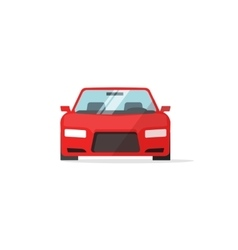 Car icon red color auto isolated vector