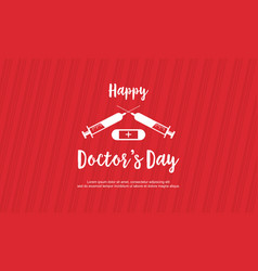 Card style doctor day celebration vector