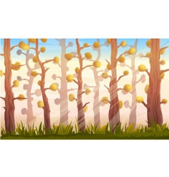 Cartoon Forest Background Landscape vector image