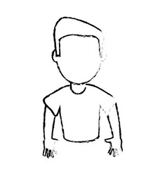 Character son male image vector