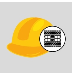 construction brick helmet tool graphic vector image