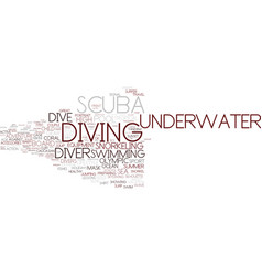 Diving word cloud concept vector