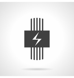 Electric heating black design icon vector image