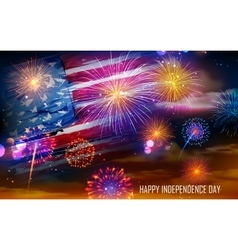 Fourth of July celebration vector image vector image