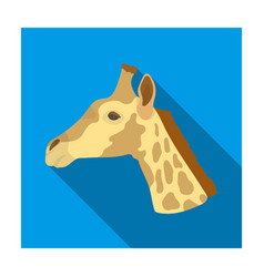 giraffe icon in flat style isolated on white vector image vector image