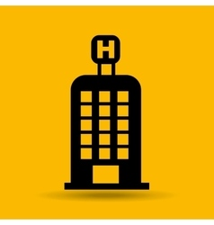 hotel building travel icon design graphic vector image