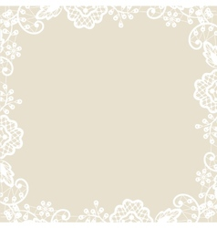 lace on beige background vector image vector image