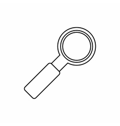 Magnifier icon outline style vector image vector image