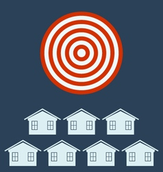 Real estate icon from business target concept vector