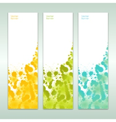 set of three abstract banners eps 10 vector image