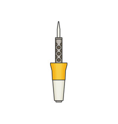soldering flat vector image vector image