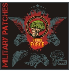 Special forces patch set - stock vector